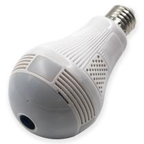 Câmera Ip Wifi Segurança Lampada Espia Panorâmica 360 Led - Haiz