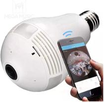 Camera lampada alta definicao 360 panoramica espia wifi ip seguraca vr v380 - Luatek