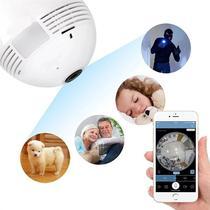 Câmera Lâmpada Espiã Wifi HD Ip Led Panorâmica Vr 360º Com Áudio . - Bcs