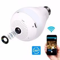 Câmera Lâmpada Espiã Wifi HD Ip Led Panorâmica Vr 360º com Áudio - Vr cam