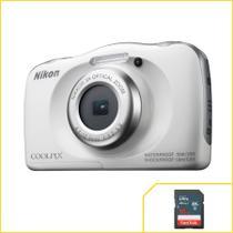 Câmera Nikon à prova dágua Wifi Coolpix W100 Branca -