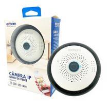 Câmera Olho de Peixe IP 360º HD 1.3MP 1280x960 Alto-falante Visao Noturna e Mic SD Card IPCAM-X310 - Exbom