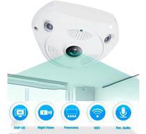 Camera Panoramica Segurança Teto Wi-fi 360 Vr Cam  Espião - Zem