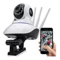 Camera Robo 3 Antenas Ip Wifi 360º 720p Sistema Yoosee/yyp2p - Camera Ip - Yosee