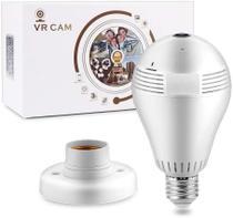 Camera Seguraca Lampada Led Panoramica 365 Espia Wifi 720p - Vcam