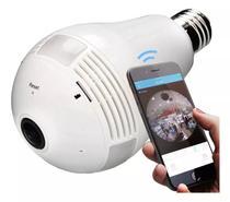 Camera Seguraca Lampada Vr 360 Panoramica Espia Wifi V380 - Import