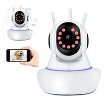 Câmera Segurança Babá Eletrônica Pet C/visão Noturna E Som - Jortan