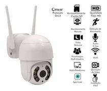 Camera Segurança Ip Externa Rotativa Dome HD 1080p Jortan IPC-360 Wifi Visão Noturna - Cdc