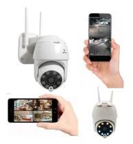 Câmera Segurança Segue Detector Movimento Wifi Áudio Infravermelho 1080p Durawell IPC360 -