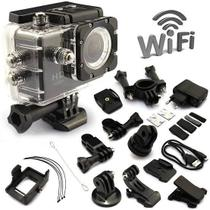 Camera Sport Hd Dv 16mp Ultra Prova D'agua Wi-fi - Action