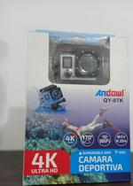 Câmera Sportiva 4k Andowl Action WI-FI Câmera Impermeável (Prata) -
