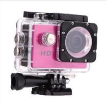 Câmera Sportiva 4k Andowl Action WI-FI Câmera Impermeável Rosa -