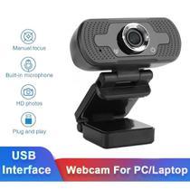 Câmera Webcam Full Hd 1080p Usb De Computador Com Microfone Embutido - Lxshop