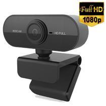 Câmera Webcam Full Hd 1080p Usb De Computador Com Microfone Embutido Pronta Entrega Novo - Lxshop