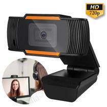 Câmera Webcam HD 720P Microfone Usb 2.0 P2 De Computador Pronta Entrega laranja - Lxshop