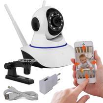 Camera Wifi Ip Wireless Sem Fio Hd 2 Antenas Visão Noturna - Estrela