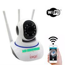 Câmeras Ip Sem Fio Wifi Hd 2 Antenas - Importação