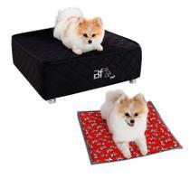 Caminha Box Pet + Lençol Impermeável e Colchonete Almofada Cachorro e Gato Courvin Bf Colchões