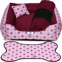 Caminha cama para cachorro kit 04 peças tamanho g lavável - Cazza Store
