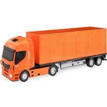 Caminhão Baú Iveco Hi-way - Usual Brinquedos - Usual Plastic