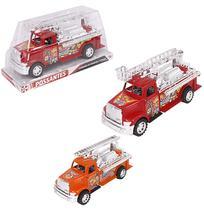 Caminhao bombeiro a friccao retro fire rescue colors - Wellmix
