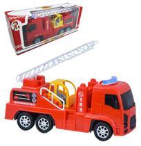 Caminhao bombeiro aventura e diversao roda livre na caixa - Diverplas -