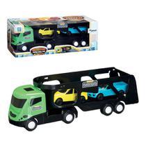 Caminhão Cegonheira Magnum Com 2 Carros Rampa Móvel - Mitro Xplast -