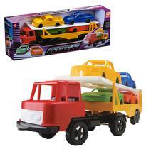 Caminhao cegonheira mini trucks com 4 carros colors - Silmar