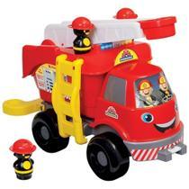 Caminhão de Bombeiros Grande com Som- Solapa- Mercotoys -