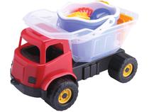 Caminhão de Brinquedo Dino Praia Cardoso Toys - com Acessórios