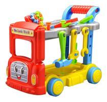 Caminhão Mecânico Maral Mechanic Truck Com Capacete E Ferramentas -