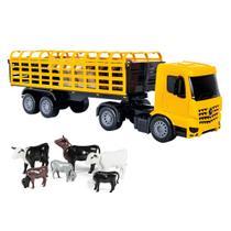 Caminhão miniatura brinquedo frota boiadeiro com boizinhos - Poliplac