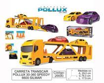 Caminhão Pollux Transcar Com 3 Carros À Fricção - Silmar brinquedos