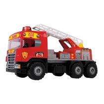 Caminhão Super Bombeiro c/capacete - Magic Toys -