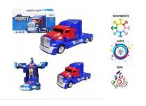 Caminhão Transformers Optimus Prime Pilha Vira Robô Som Luz Azul - Barcelona