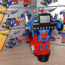 Caminhão Transformers Vira Robo Optimus Prime Som E Luz - Emporio Magazine