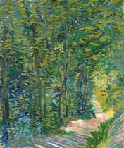 Caminho na Floresta (1887) - Vincent van Gogh - 75x89 - Tela Canvas Para Quadro - Santhatela