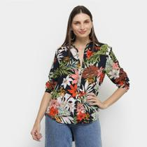 Camisa Angel City Tropical Manga Longa Feminina -