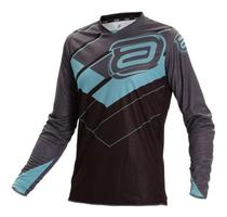 Camisa Asw Motocross Image Stages Cinza azul tam G -