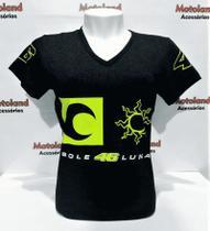 Camisa Baby Look Feminina All Boy Valentino Rossi Vr 46 Moto Gp P1F -