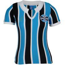 Camisa Baby Look Feminina Grêmio Retrô 1977 Bordada Torcedor -