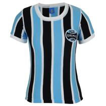 Camisa Baby Look Feminina Grêmio Retrô 1983 Bordada Número 3 -