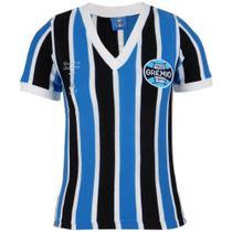 Camisa Baby Look Feminina Grêmio Retrô 1983 Gola V Torcedor -