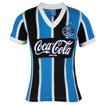 Camisa Baby Look Feminina Grêmio Retrô Libertadores 1989 -