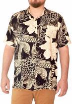 Camisa Botão Masculina Viscose Estampa Floral Dark - Modisch