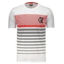 Camisa Braziline Flamengo Graphic - Masculino - Branco e Vermelho -