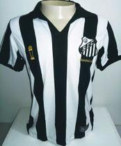 Camisa Braziline Santos Bimundial Masculina - Branco e Preto -