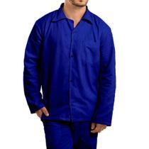 Camisa brim manga longa com botão uniforme profissional - Scudo