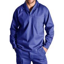Camisa brim manga longa gola italiana uniforme profissional - Scudo