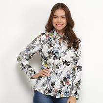 Camisa Charm Lady Floral Manga Longa Feminina -